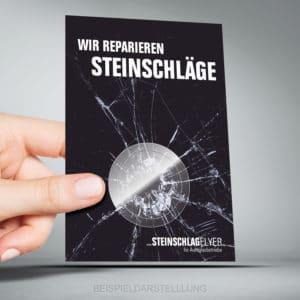 Individuelle DIN A6 Format Steinschlagflyer