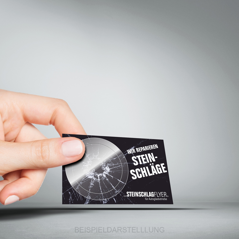Steinschlagflyer Visitenkarte